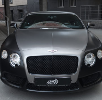 Bentley Continental GT «Оклейка черный сатин + шлифованный алюминий под титан»
