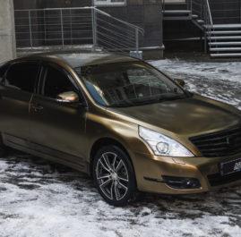 Nissan Teana «Полная оклейка в Bond Gold от Teckwrap»