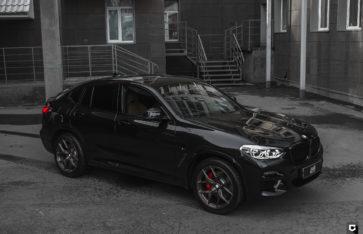 BMW X4 «Полная оклейка в прозрачный полиуретан»