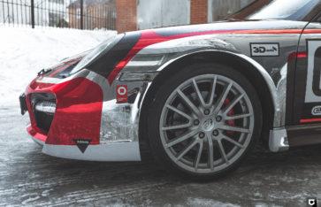 Porsche 911 TechArt (Корпоративная ливрея/оклейка в хром)